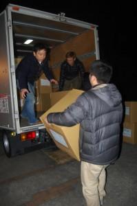 前日に数量確認と搬送順に荷物の積み直し