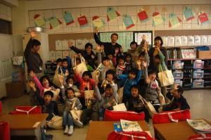 門脇小学校一年生達とも記念撮影