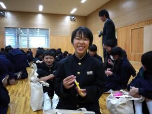 中学生の皆さんも最高の笑顔をくれました!(1)